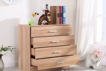 Oak Storage Unit Bed Room Furniture Chest of 4 Drawers Sideboard Cupboard House