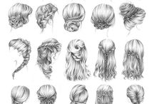Hair / Wedding day hairstyles