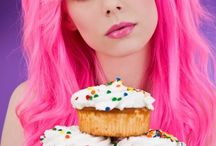 Pink hairdye / Great looks with pink hair! Please have a look at the finest selection of pink hair colours on our website. http://dyenamite.com/