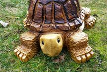 Wooden Carvings turtle