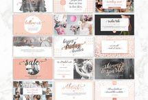 Creative Resources / graphic design, creative kits, blog graphics, media kits, textures, patterns, logos, headers, prints, wall art
