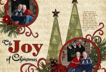 Christmas page layouts