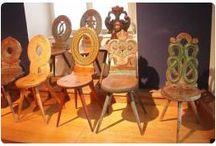 mobili decorati tirolesi