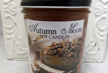 Autumn Moon Candles / Our 8oz jelly jar style candles are hand-poured with premium soy wax, high quality fragrance oils and rich colorants, then topped off with a black lid.  Indulge in an Autumn Moon candle today!  http://www.autumn-moon.com/catalog.php?category=60