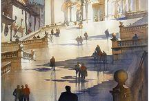 Thomas Schaller / Akvarel