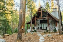 English Cottage in the Woods / Timber Mountain Retreat featured in Timber Home Living, designed by Yosemite Drafting & Design.  Construction by Lawson Construction. Interior Design by Carol Fox.