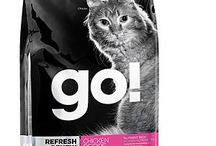 GO! for cats / Δημιουργήσαμε τις τροφές GO! να είναι πλούσιες, θρεπτικά ενεργά συσκευασμένες, πραγματικά θρεπτικές για όλες τις γάτες και ιδιαίτερα για όσες έχουν τροφικές δυσανεξίες ή/και αλλεργίες.  Η γάτα σας θα παίρνει πολύ περισσότερα, τρώγοντας λιγότερο.  Ανακαλύψτε την GO! REFRESH+RENEW™ Chicken Recipe CF και την  GO! SENSITIVITY+SHINE™ FreshwaterTrout+Salmon Recipe CF  Οι GO! δεν περιέχουν καθόλου ορμόνες, υποπροϊόντα κρεάτων ή τεχνικά συντηρητικά.