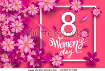 WOMEN'S DAY 8th March Design / https://www.shutterstock.com/g/yuhriatcahyobaskoro?searchterm=women+day&search_source=base_gallery&language=en&sort=popular&safe=true