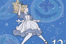 Alice in Calender Pad