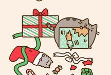 christmas pusheen cat wallpapers