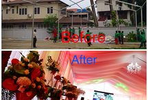 Before and after project for office opening ceremony / In Yangon, Myanmar