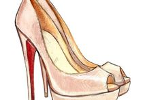 Shoe drawing fashion ilustration