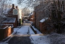 Black Country Living Museum in the Snow