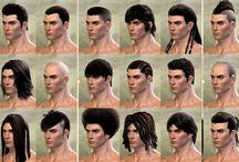 Medieval hairstyle / Long hair, braids...