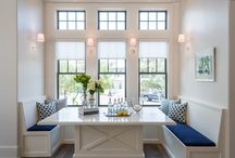 Built Ins :: Breakfast Nook and Family Room