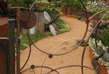 esculturas en hierro