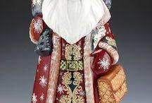 Russian/Moravian Wooden Santas