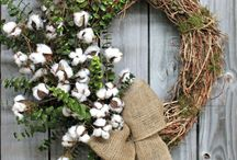 Деревенские венки на дверь