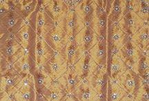 Beaded Zardozi Curtains / Hand beaded shimmering organza curtain panels from India