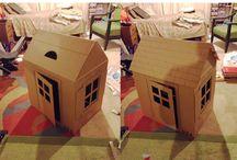 Дома из картонных коробок