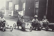 Olden days go carting
