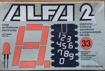 Electronic set ALFA 2 / Elektronická stavebnice / Vintage electronic set, Czechoslovakia, 1980s / historická elektronická stavebnice, ČSSR, 80. léta 20. století