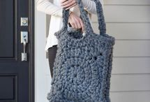 Crochet bags, baskets and bowls