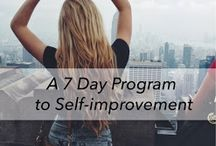 self improvement / by Nancy O'Brien