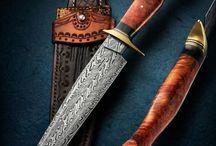 Messer, ausgefallene, Damast, handgearbeitet