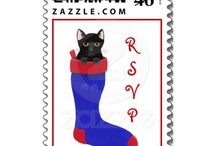 Cat Stamps / Cat art and designs on postage stamps
