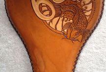 leather bike seat