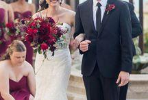 Brides Bouquet - Burgundy / Pink Pelican Weddings