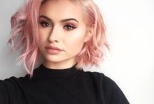 pink hair ombre
