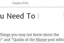 Niume / Tutorials, guides, reviews, info and more about the writing site or collaborative blogging platform known as Niume