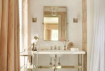 Bathrooms / Bathrooms are small enough to go a bit wild.  Or be a soothing, relaxing space for floating away.