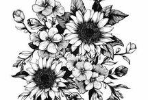 czarno białe keiatki