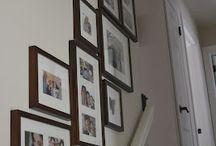 Escaleras, zócalos y Fotos pared