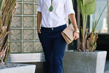 chino outfit women navy