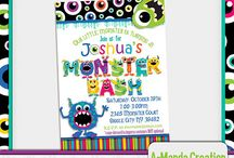 Monster Bash Party / Monsters are all the rage. Here's a board full of super fun monster party ideas!  Monsters are a great theme year round, and perfect for kids birthday parties, baby showers and more. Find fun ideas for bringing monsters to your party.