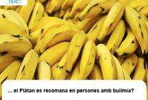 Plàtan / Plátano  / Aquí trobaràs curiositats sobre el plàtan / Aquí encontrarás curiosidades sobre el plátano