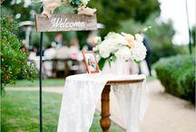 Bienvenida/welcome / Decoración bodas