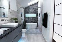 Cool Bathrooms / Bath designs I love.