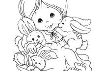 Cute line drawings/ Inkleurprentjies