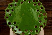 Naczynia i patery ceramiczne / Ręcznie wykonane i szkliwione naczynia i patery ceramiczne