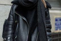 Vestes en cuir noir