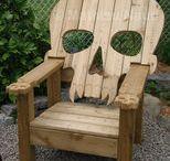 kursi kayu antik