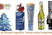 Totem sagomati / Totem sagomati  in svariate forme e colori.