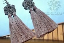 Handmade jewellery with tassels