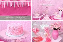 Babygirl 1st Birthday Ideas  / Pretty in pink to super cute frillyness