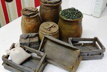 cajas mercado y orzas olivas